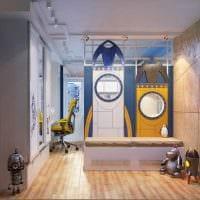 идея светлого интерьера детской комнаты для двух мальчиков картинка