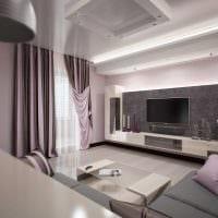 идея необычного дизайна гостиной в современном стиле картинка