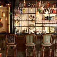идея яркого стиля ресторана в стиле лофт фото
