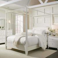 идея современного интерьера спальни в белом цвете картинка