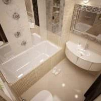 вариант красивого стиля ванной комнаты 4 кв.м картинка