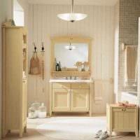 вариант яркого интерьера ванной комнаты в классическом стиле картинка