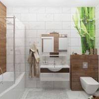 вариант современного интерьера большой ванной комнаты фото