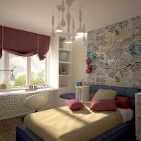 идея яркого декора детской комнаты для девочки картинка