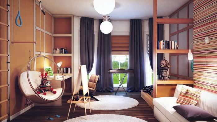 идея красивого интерьера детской комнаты