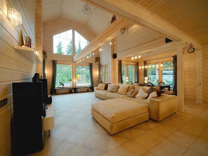 вариант необычного дизайна дома со вторым светом