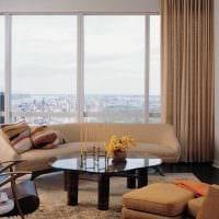 вариант светлого стиля гостиной комнаты в современном стиле картинка