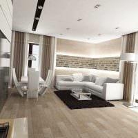 идея красивого интерьера гостиной в современном стиле фото