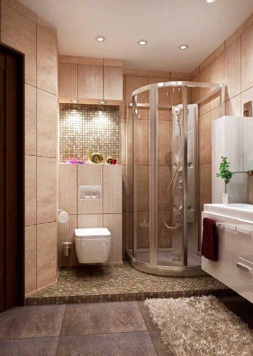 вариант современного стиля ванной 2.5 кв.м