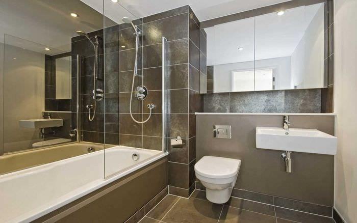 вариант красивого дизайна ванной комнаты 2020