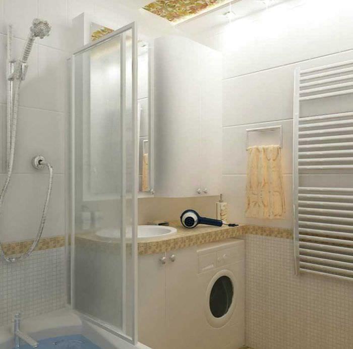 вариант современного стиля ванной комнаты 4 кв.м