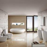 идея необычного стиля ванной 2017 фото