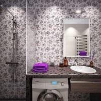идея красивого интерьера ванной комнаты 4 кв.м картинка
