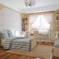 идея красивого дизайна детской комнаты картинка