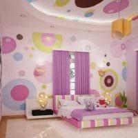 идея яркого стиля детской комнаты для девочки картинка
