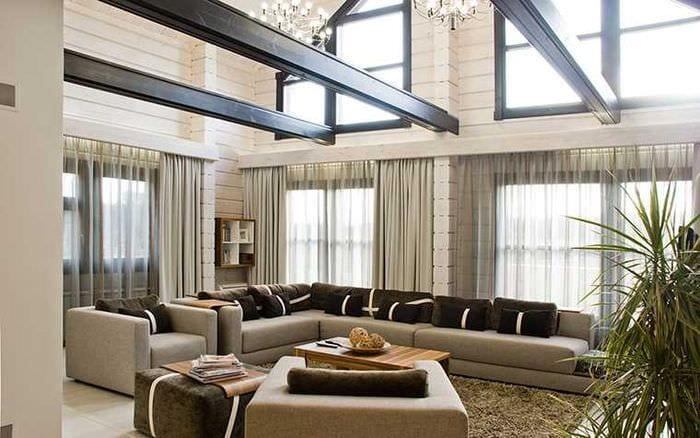 идея красивого стиля дома со вторым светом