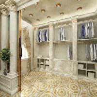вариант красивого дизайна гардеробной комнаты картинка