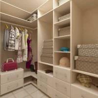 идея яркого интерьера гардеробной комнаты картинка