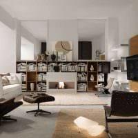 идея красивого декора гостиной комнаты в современном стиле фото