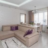 вариант светлого интерьера гостиной в современном стиле картинка