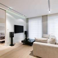 идея необычного декора комнаты в светлых тонах в современном стиле картинка
