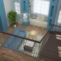 вариант яркого дизайна квартиры со вторым светом фото