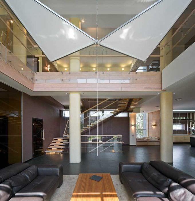 вариант современного стиля квартиры со вторым светом