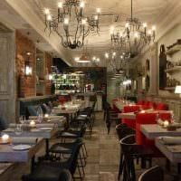 идея красивого дизайна ресторана в стиле лофт фото