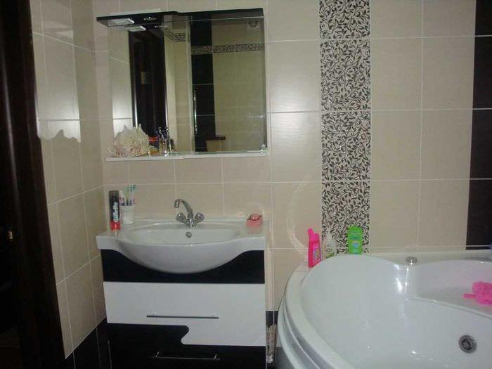 идея красивого интерьера ванной 4 кв.м