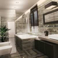 вариант яркого дизайна ванной с окном картинка