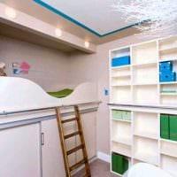 вариант светлого интерьера детской комнаты картинка