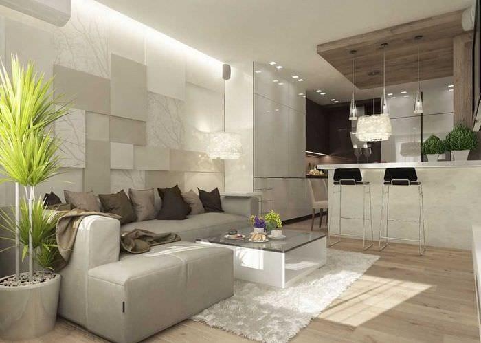 идея яркого дизайна гостиной комнаты в современном стиле
