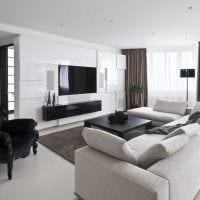идея светлого интерьера комнаты в светлых тонах в современном стиле картинка