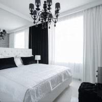 идея современного интерьера спальни в белом цвете фото