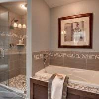 идея необычного стиля большой ванной комнаты картинка