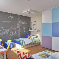 идея необычного интерьера детской комнаты для двух мальчиков фото