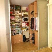 вариант красивого дизайна гардеробной комнаты фото