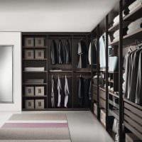 идея современного интерьера гардеробной картинка