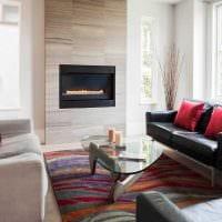идея необычного стиля гостиной в современном стиле картинка