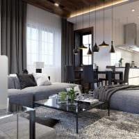 вариант яркого дизайна гостиной комнаты в современном стиле фото