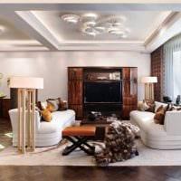 вариант яркого дизайна комнаты в стиле современная классика картинка