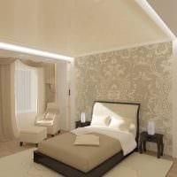 идея необычного стиля спальни в белом цвете фото