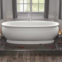 вариант яркого дизайна ванной комнаты в классическом стиле фото