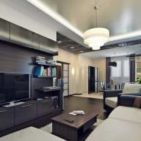 идея красивого интерьера гостиной в частном доме картинка