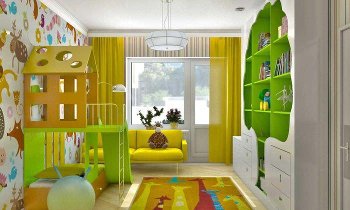 вариант светлого дизайна детской