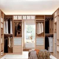 вариант красивого интерьера гардеробной комнаты картинка