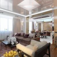 вариант яркого стиля гостиной комнаты в современном стиле фото
