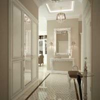 вариант светлого стиля квартиры в стиле современная классика картинка