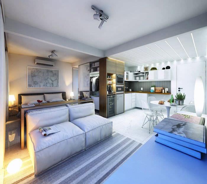 идея современного дизайна гостинки