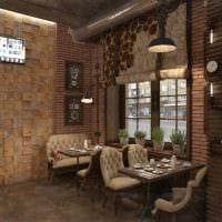 идея светлого стиля ресторана в стиле лофт фото